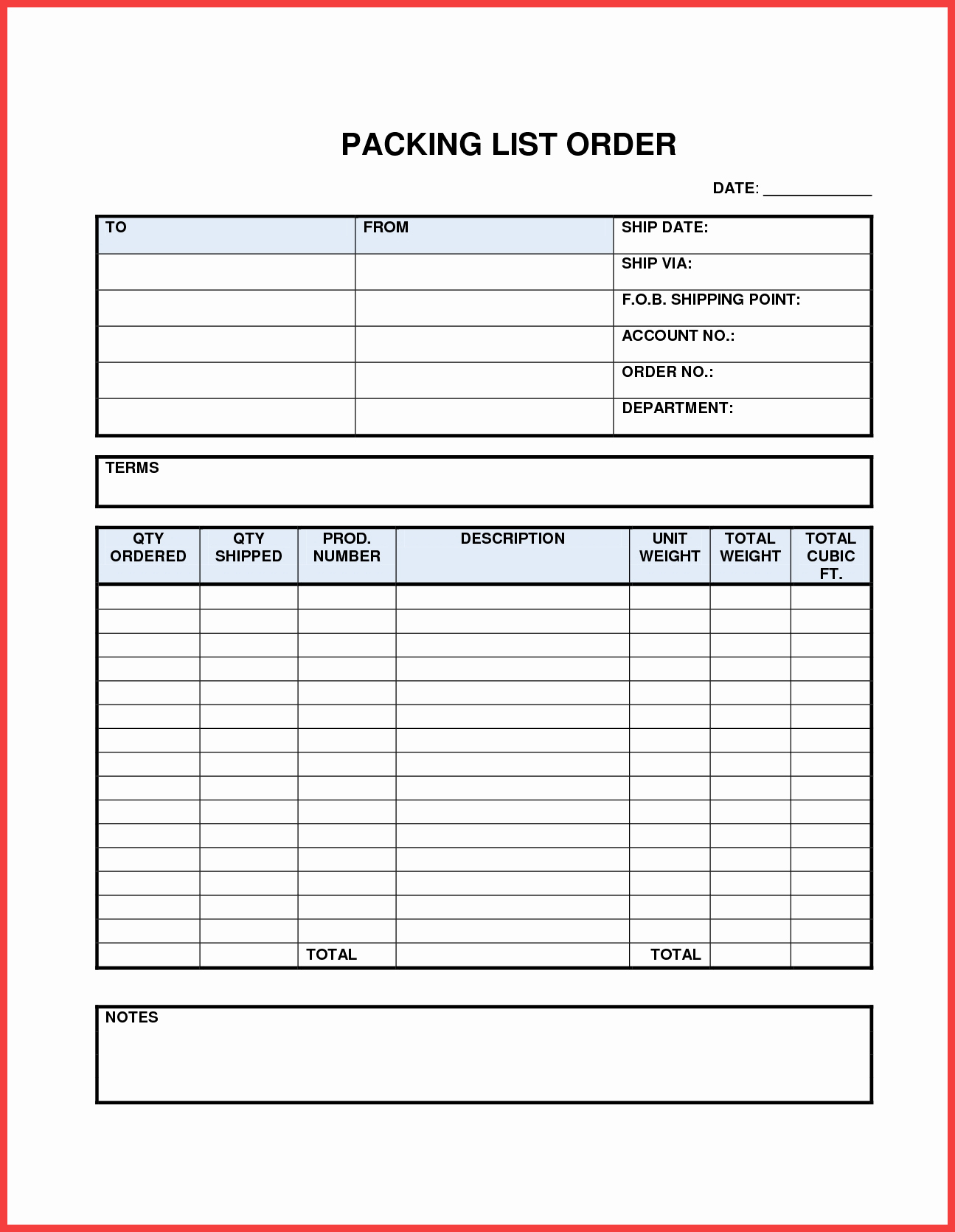 Blank Packing List Template Lovely Packing List Word Template