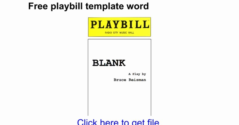 Blank Playbill Template Best Of Blank Playbill Template Free Playbill Template Word Google