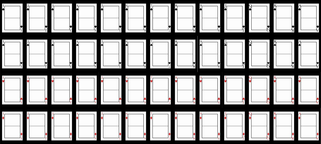 Blank Playing Card Template Beautiful Best S Of Downloable Template Playing Card Free