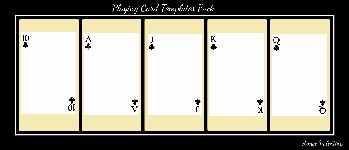 post playing card templates for word