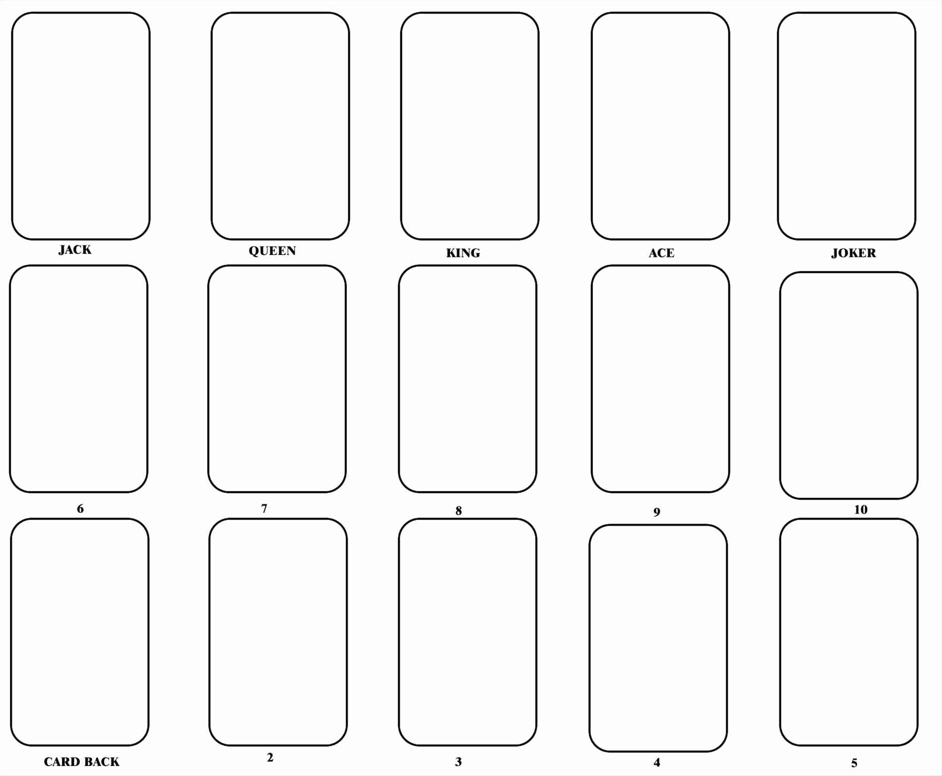 Blank Playing Card Template Lovely 4 Blank Card Template Template Update234 Template