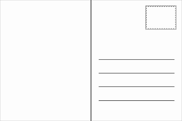 Blank Postcard Template Unique Royalty Free Postcard Template and Stock