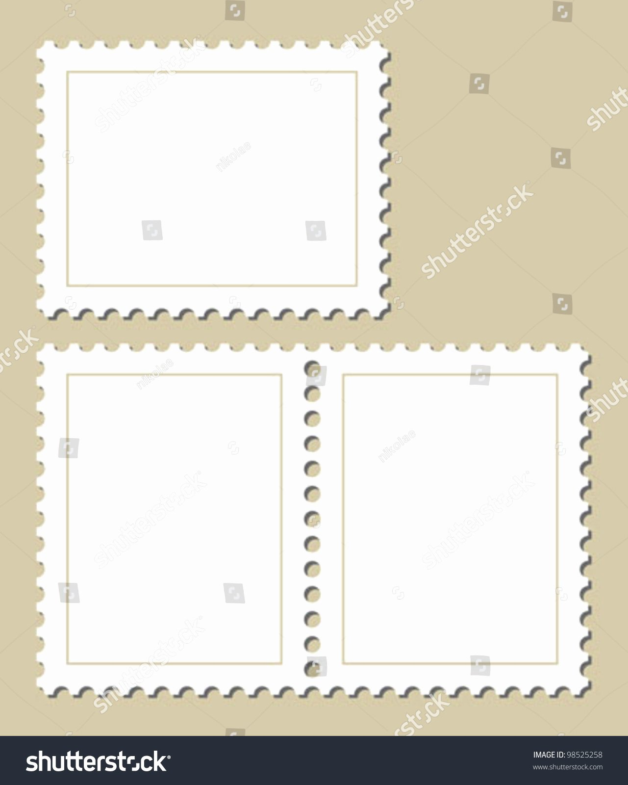 Blank Stamp Template Awesome Blank Stamp Template Stock Vector Illustration