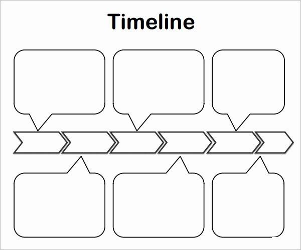 Blank Timeline Worksheet Pdf Awesome Sample Blank Timeline Template 4 Free Documents