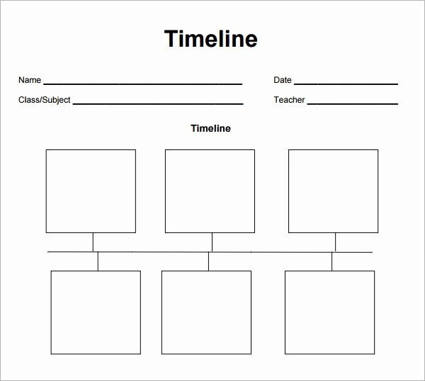 Blank Timeline Worksheet Pdf Beautiful Blank Timeline Template 6 Free Download for Pdf