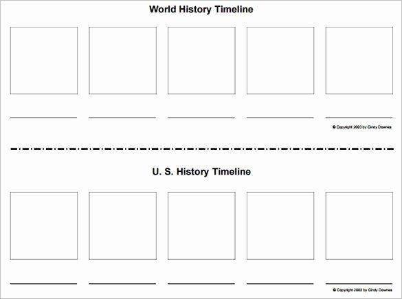 Blank Timeline Worksheet Pdf Luxury Timeline Templates for Students Word Excel Samples