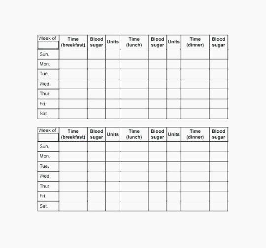 Blood Sugar Log Template Excel Beautiful Best 43 Agile Blood Glucose Log Sheet Printable