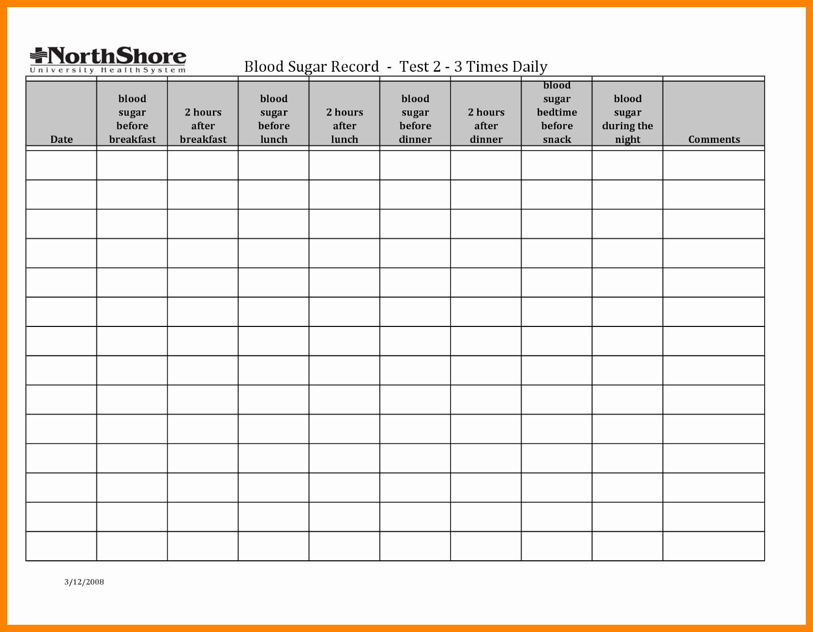 Blood Sugar Log Template Excel New Blood Sugar Log Template In Pdf format Excel Template