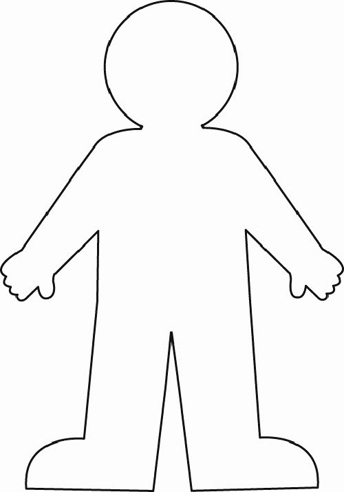 Body Drawing Template Inspirational Human Body Drawing Template Clipart Best