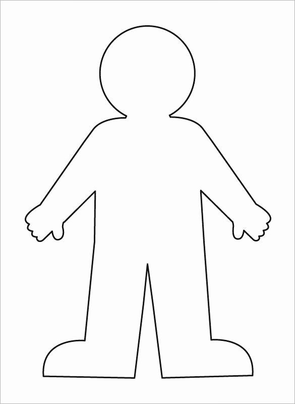 Body Drawing Template Lovely 16 Human Body Outline Templates Doc Pdf