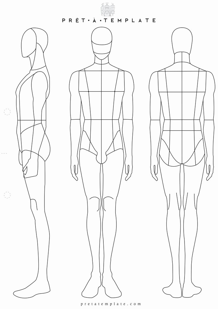 Body Drawing Template Lovely Drawn Figurine Man Body Pencil and In Color Drawn