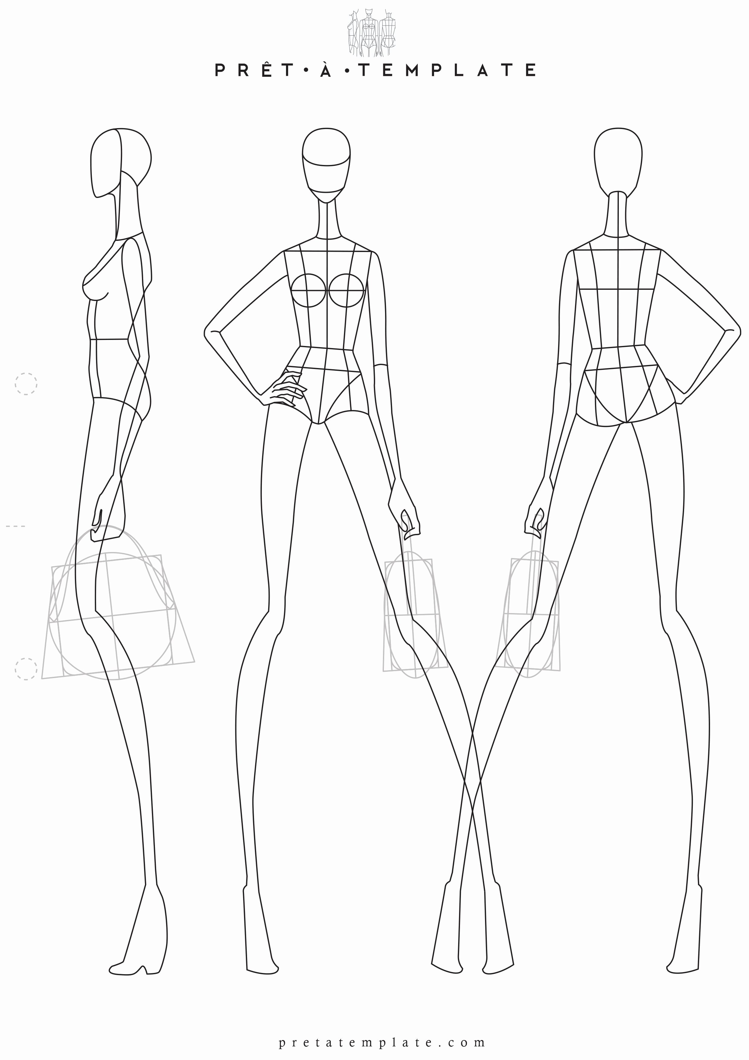 Body Drawing Template Lovely Woman Body Figure Fashion Template D I Y Your Own Fashion