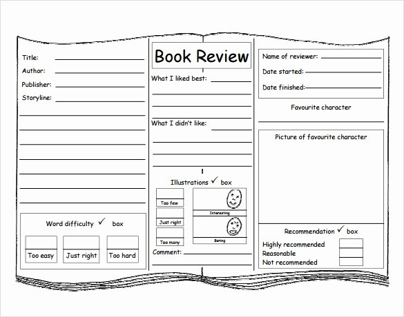 Book Review Template Pdf Beautiful 10 Book Review Templates Pdf Word
