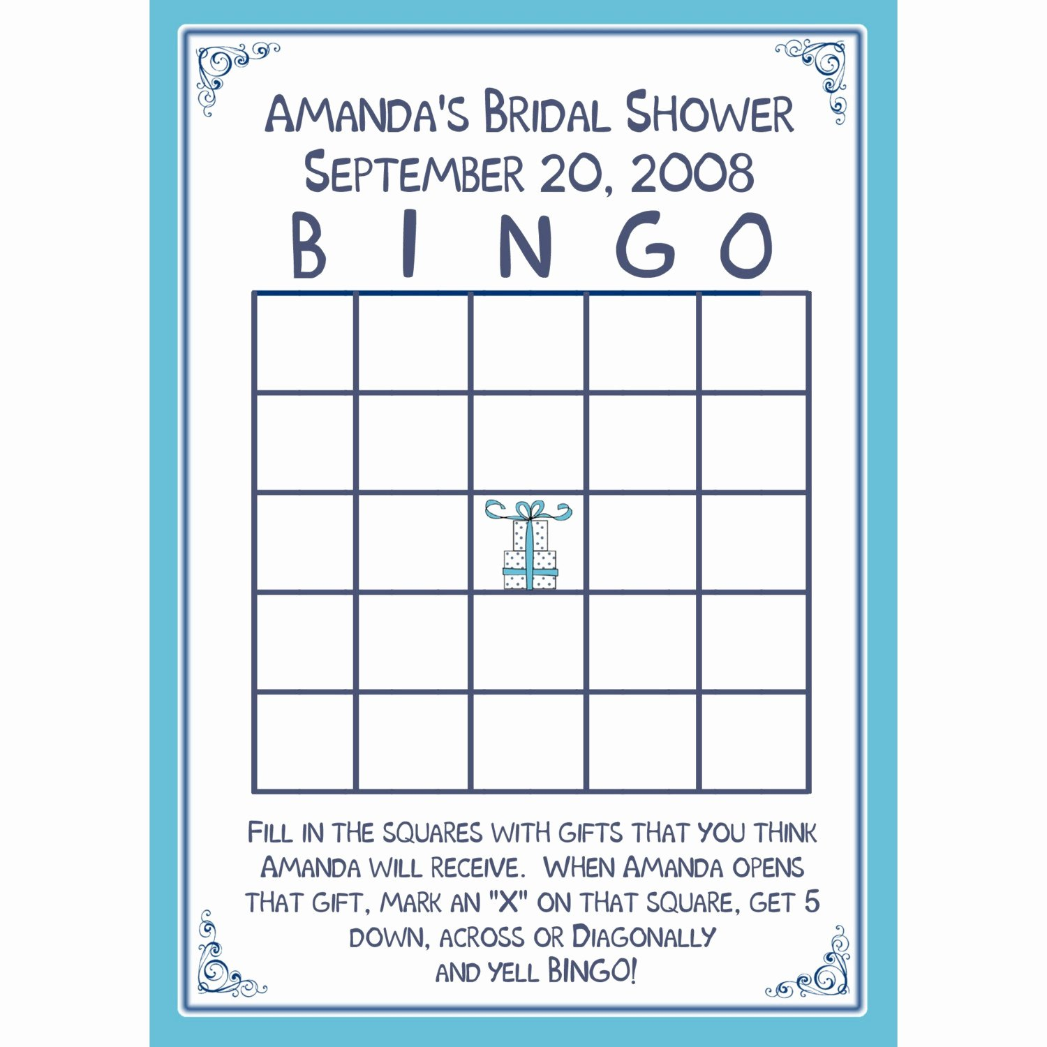 Bridal Bingo Template Awesome 24 Bridal Shower Bingo Card Game Personalized