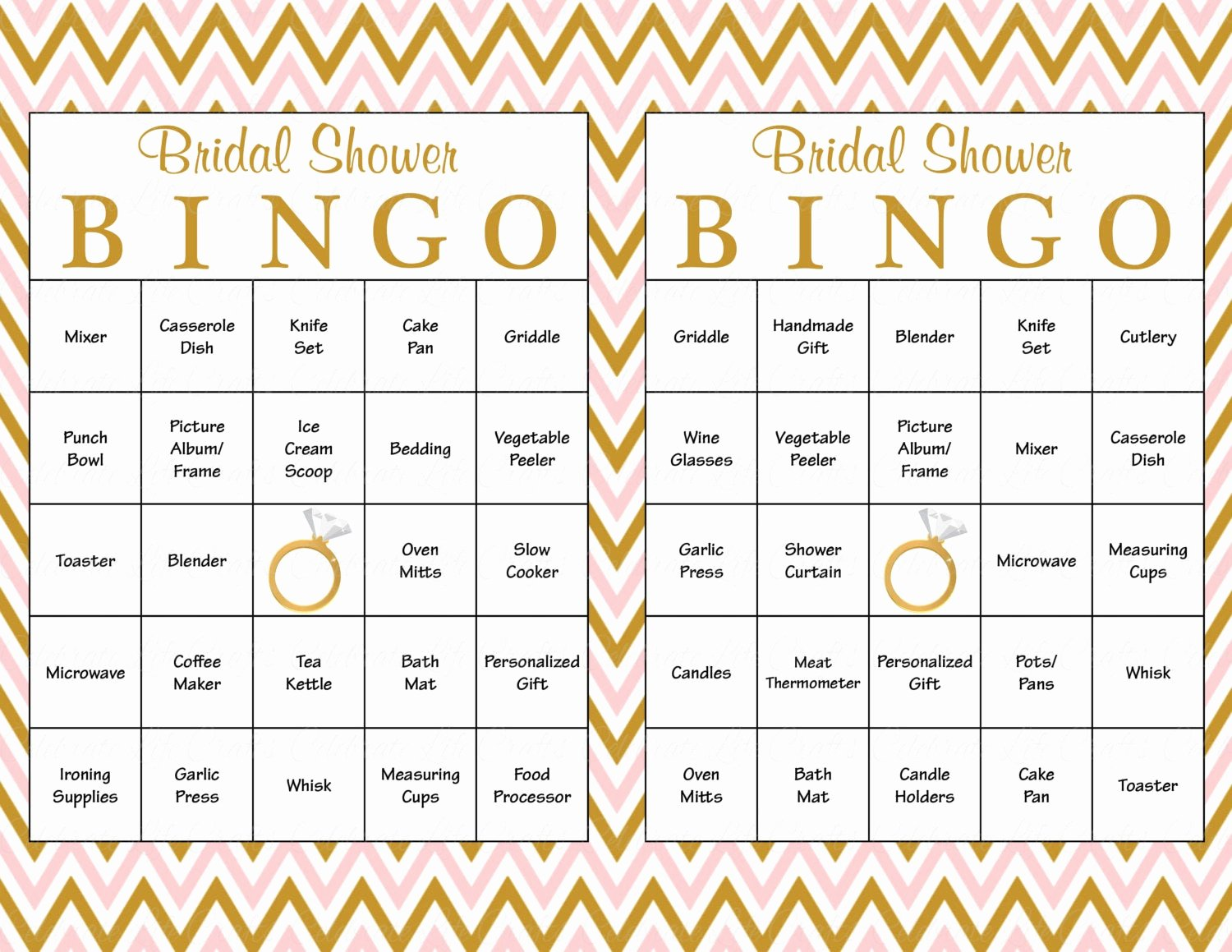 Bridal Bingo Template Awesome 60 Bridal Bingo Cards Blank & 60 Prefilled Cards Printable
