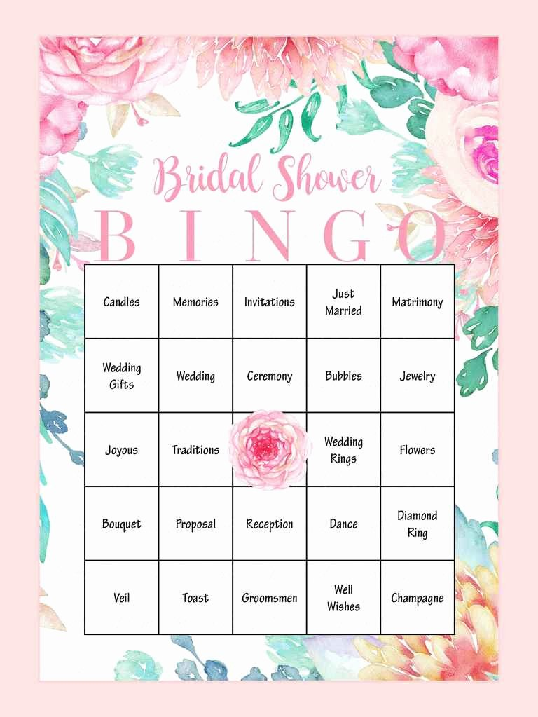 Bridal Bingo Template Lovely 10 Printable Bridal Shower Games to Diy