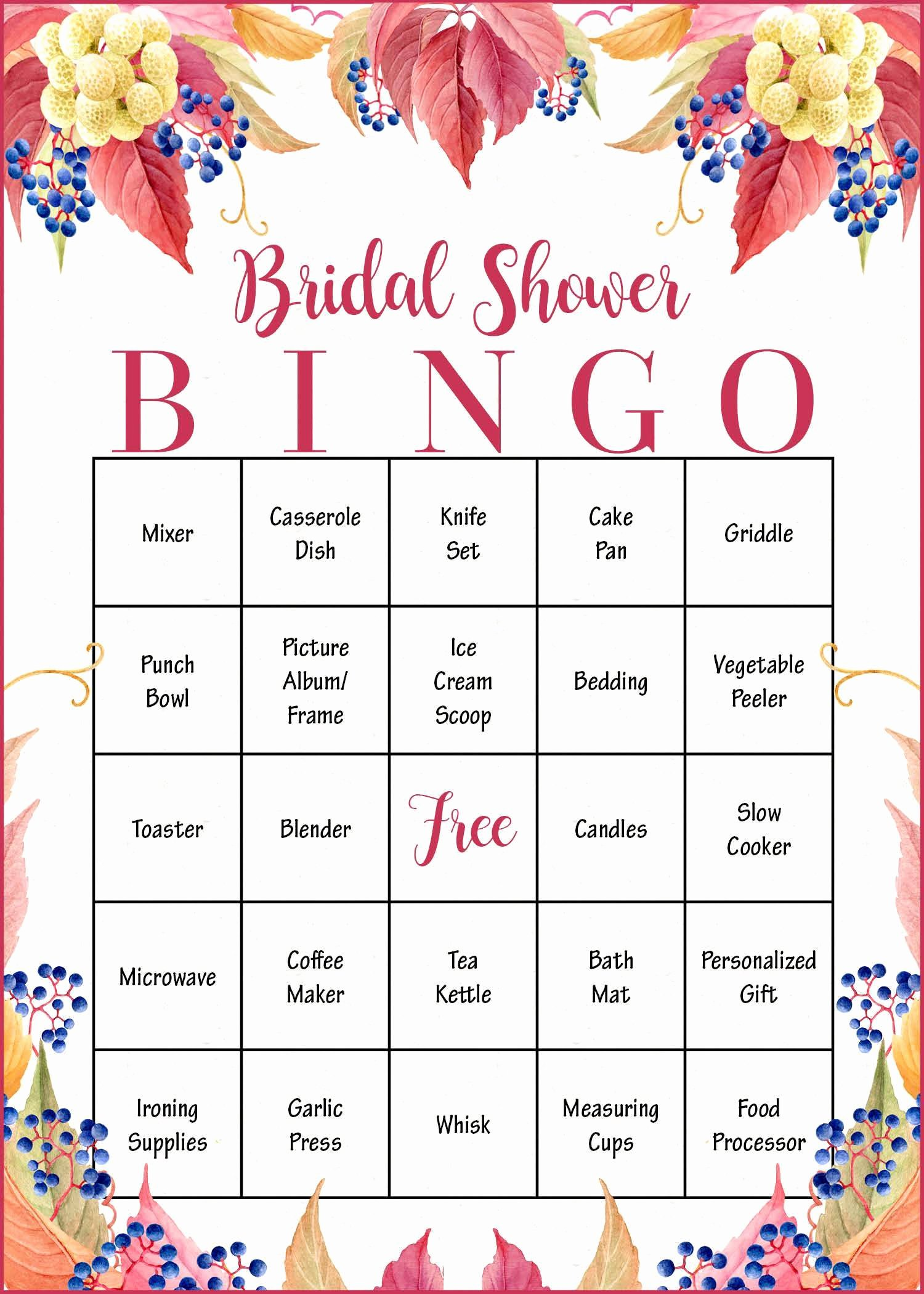 bridal shower t bingo game falling in love instant wedding br1006