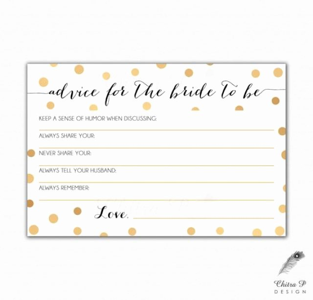 gold black bridal advice card printed or printable instant confetti wedding art deco pop fizz clink shower game gatsby 013