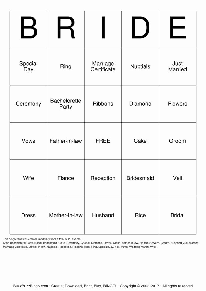 Bridal Shower Bingo Template Free Awesome Bridal Shower Bingo Cards to Download Print and Customize