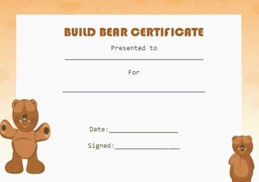 top 37 unusual printable build a bear certificate
