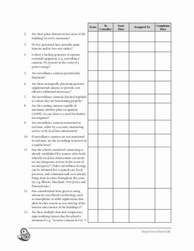 Building Security Checklist Luxury Security Audit Building Security Audit Checklist
