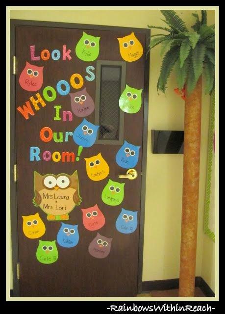 Bulletin Board Tree Template Unique Photo Of Classroom Door On Owl theme W Diy Palm Tree Via