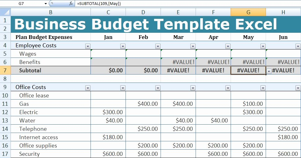 Business Budget Excel Template Best Of Business Bud Template Excel