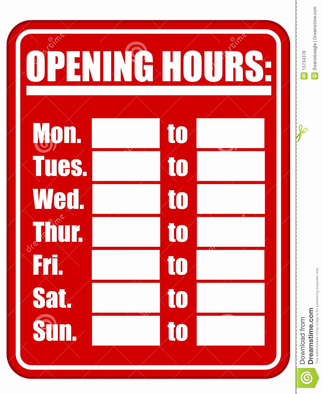 royalty free stock photos opening hours sign eps image