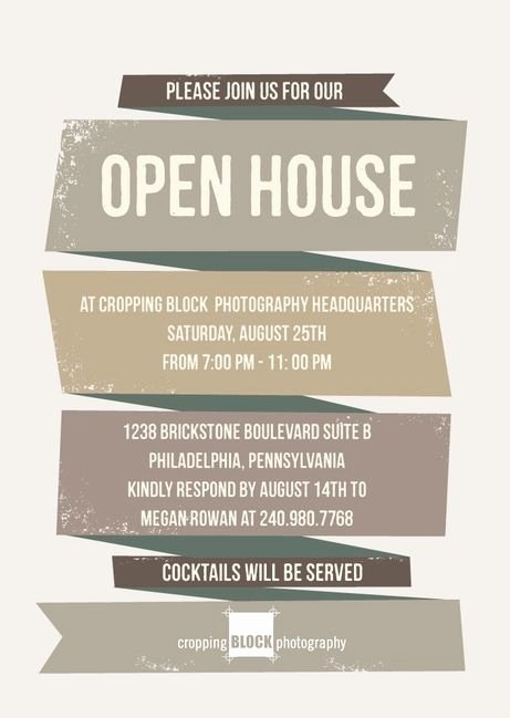 Business Open House Flyer Template Awesome Business Open House Invitation Template