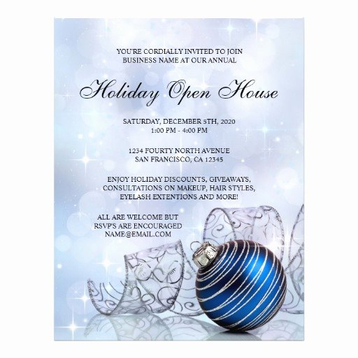 Business Open House Flyer Template Best Of Festive Business Holiday Open House Flyer Template