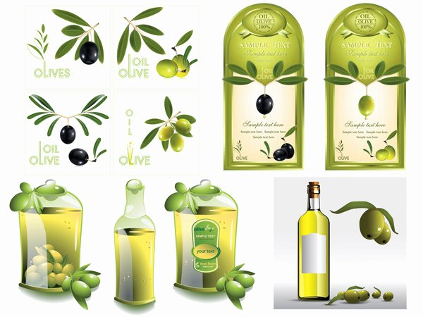 Business source Label Templates Awesome Set Of Olive Oil Label Stickers Vector 05 Free