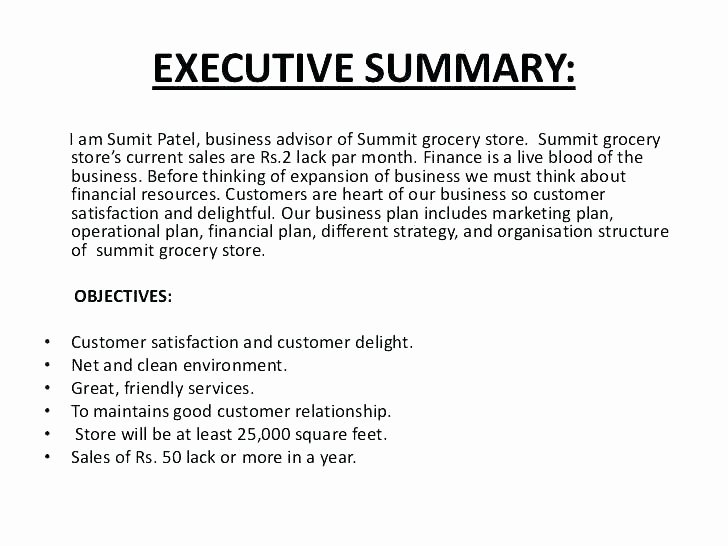 Business Summary Example Fresh Executive Summary Of Business Plan Sample Sample Of