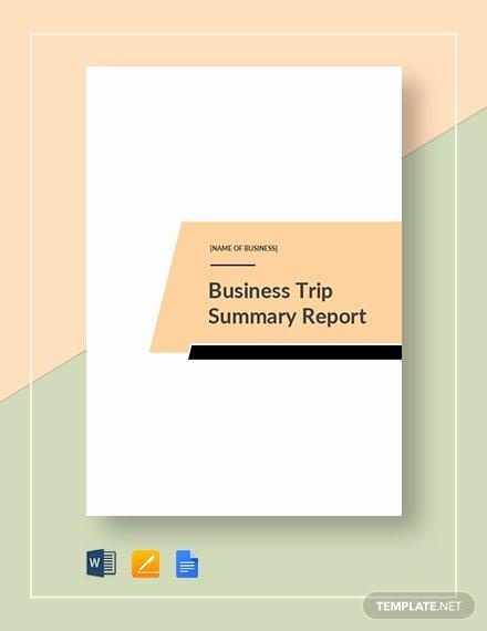 Business Trip Report Template Fresh 21 Sample Trip Report Templates Word Pdf Google Docs