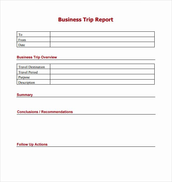 Business Trip Report Template Luxury 16 Trip Report Templates Word Google Docs Apple Pages