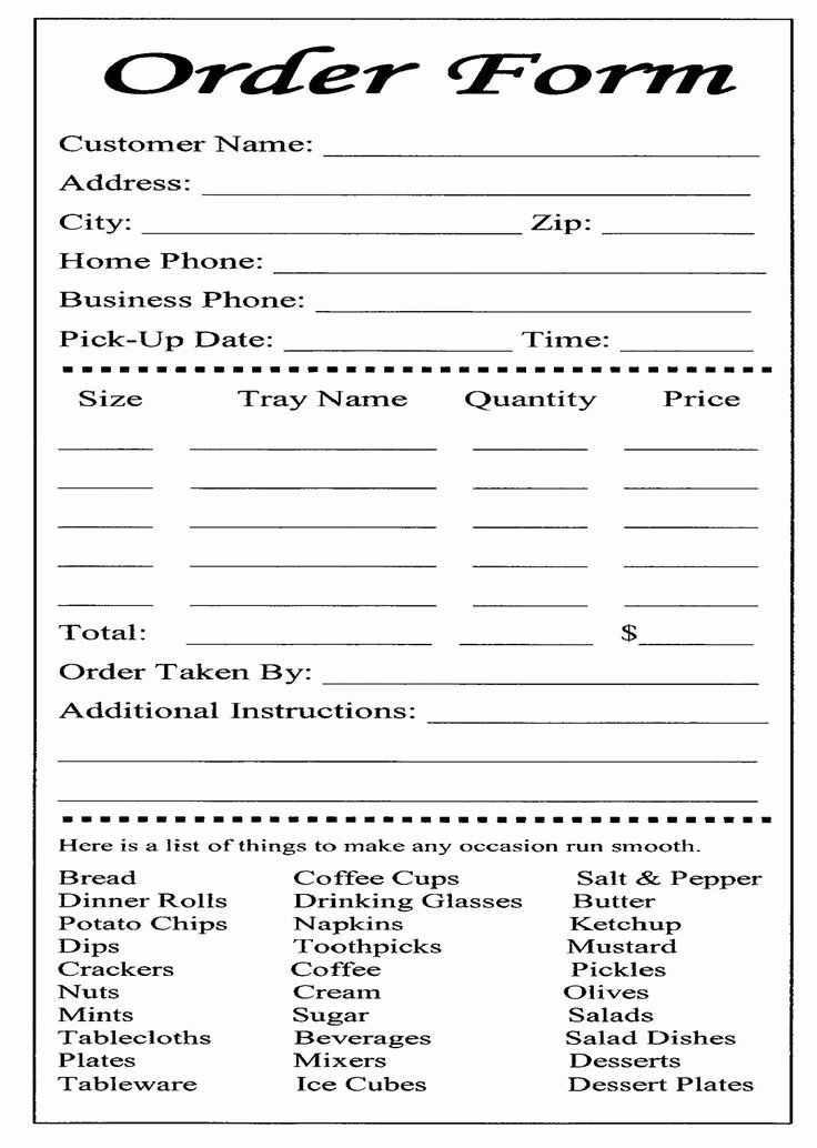 Cake order forms Printable Best Of Free Printable Cake order form Template