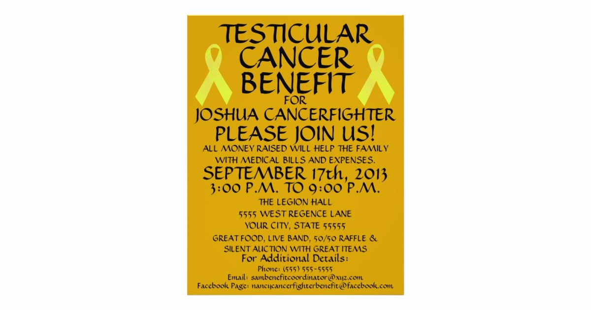 Cancer Benefit Flyer Ideas Awesome Testicular Cancer Benefit Flyer