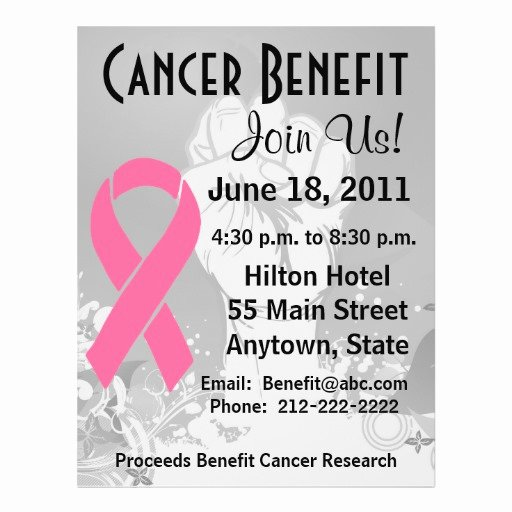 Cancer Benefit Flyer Ideas Lovely Breast Cancer Personalized Benefit Flyer