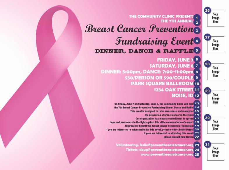 Cancer Benefit Flyer Ideas Luxury Pink Ribbon Flyer Fundraising Ideas