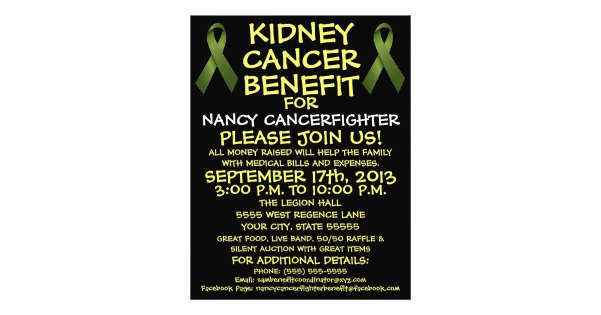 Cancer Benefit Flyer Ideas Unique Kidney Cancer Benefit Flyer