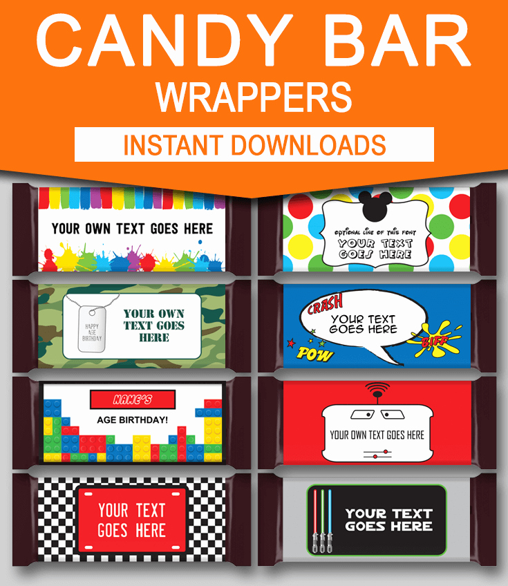 Candy Wrapper Template Elegant Diy Candy Bar Wrapper Templates Party Favors