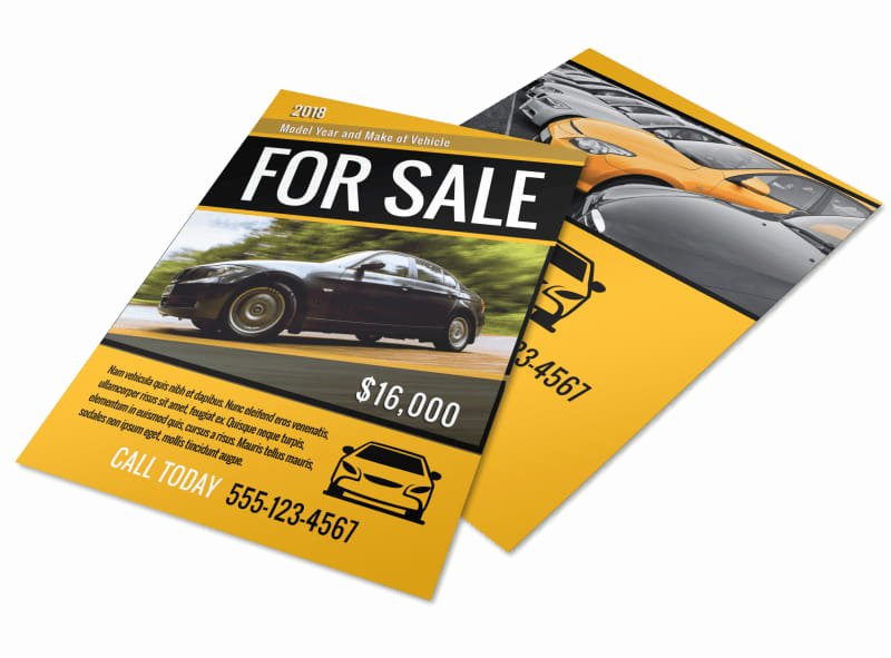 car for sale flyer template