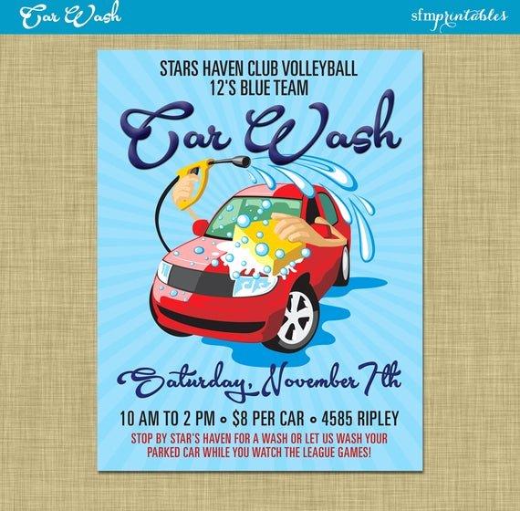 Car Wash Ticket Template Best Of Car Wash Flyer Fundraiser Church School Munity Sports