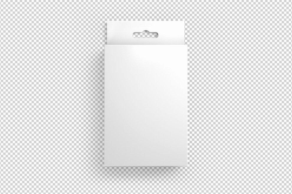 Cardboard Box Template Generator Elegant Front View Hang Tab Box Mockup Generator Mediamodifier