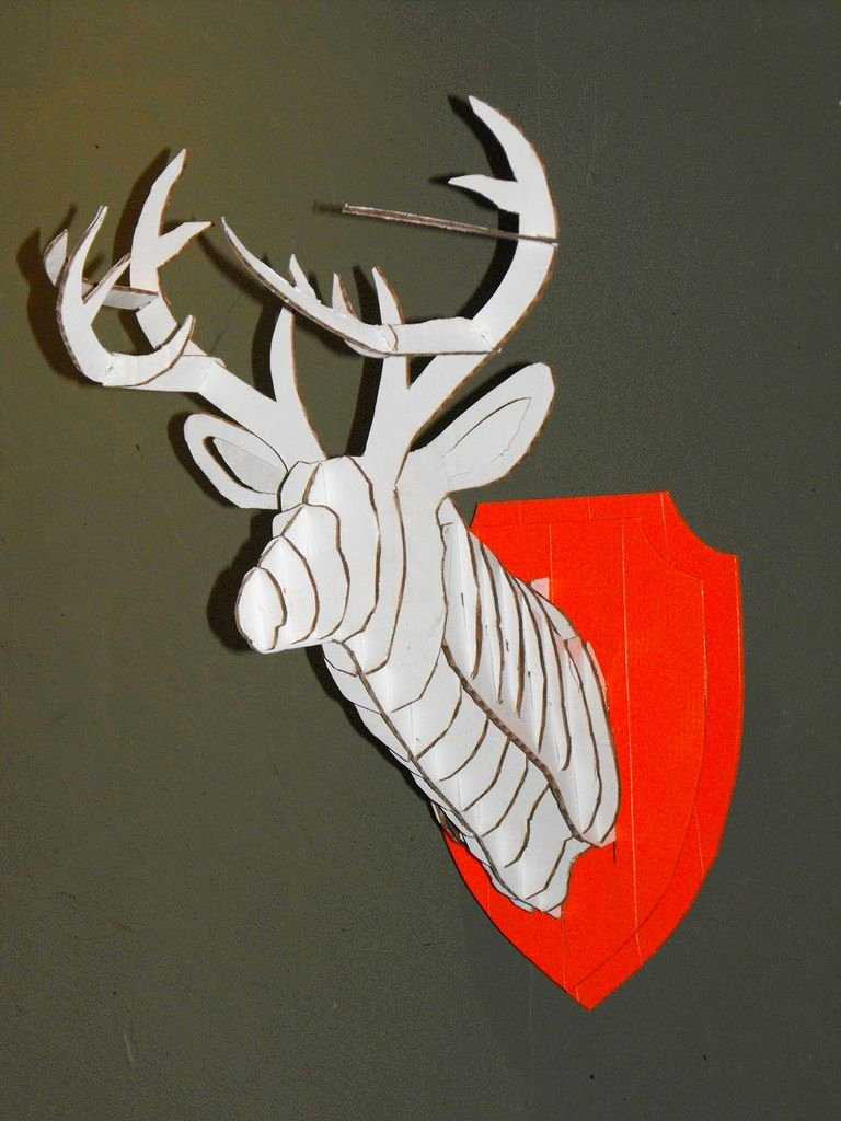 Cardboard Deer Head Template Awesome 3d Cardboard & Duct Tape Deer Head Trophy with Template