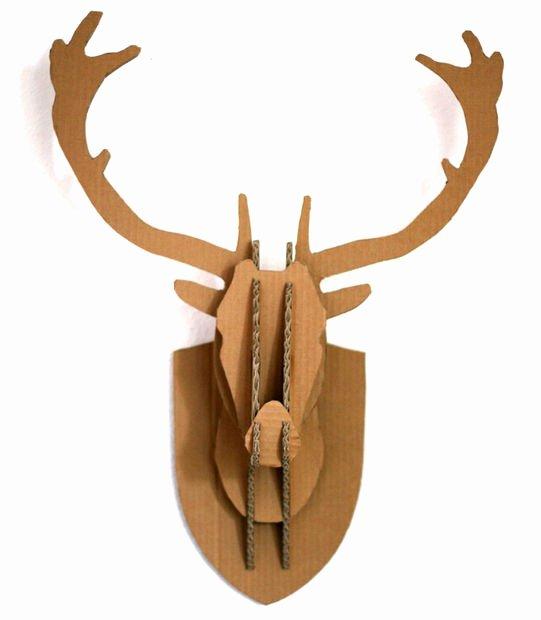 Cardboard Deer Head Template Awesome Cardboard Box Stag Deer Head Wall Hanging 7 Steps