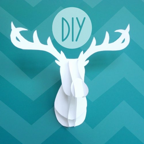 Cardboard Deer Head Template Awesome Deck the Holiday S 3d Deer Head
