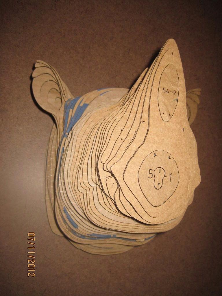 Cardboard Deer Head Template Best Of Cardboard Trophy Wall
