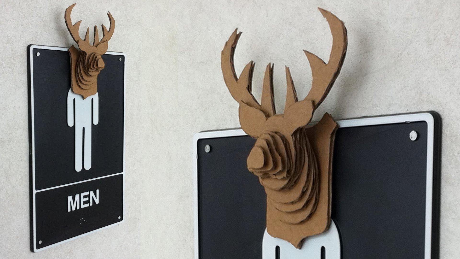 Cardboard Deer Head Template Fresh 16 Cardboard Deer Head Ideas