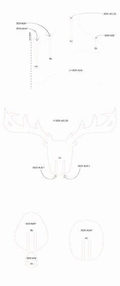 Cardboard Deer Head Template Fresh 3d Cardboard & Duct Tape Deer Head Trophy with Template