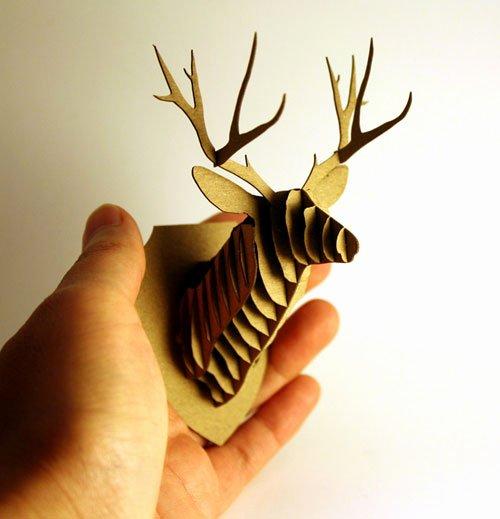 cardboard reindeer head template